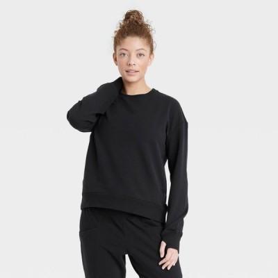 オールインモーション All in Motion レディース スウェット・トレーナー トップス Crewneck Sweatshirt - Black