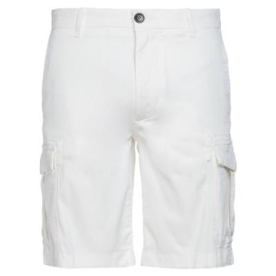 ELEVENTY ショートパンツ&バミューダパンツ  メンズファッション  ボトムス、パンツ  ショート、ハーフパンツ ホワイト
