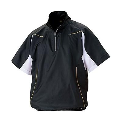 ZETT(ゼット) 野球 ハーフジップジャンパー (半袖・ハーフジップ) BOV515H ブラック/ホワイト L