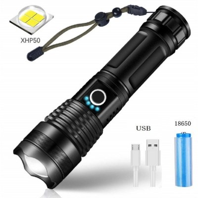 懐中電灯 LED 強力 最強 充電式 防災 USB充電式 軍用 アウトドア 釣り 登山