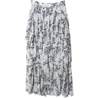 FRACOMINA ロングスカート ホワイト 38 ポリエステル 100% ロングスカート