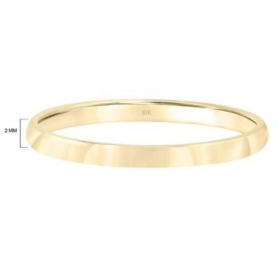 Brilliant Expressions 10K Yellow Gold Low Dome Plain and Simple Weddin
