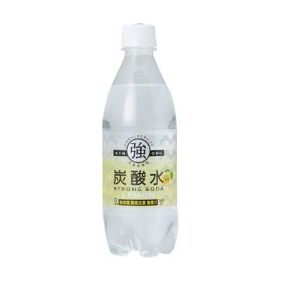 友桝飲料 強炭酸水レモン 500ml ペットボトル 1セット(72本:24本×3ケース)
