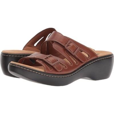 クラークス Clarks レディース サンダル・ミュール シューズ・靴 Delana Liri Dark Tan Leather