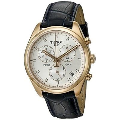 ティソ Tissot 腕時計 メンズ 時計 Tissot Men's T1014173603100 Stainless Steel Watch With Black Faux-Leather Band