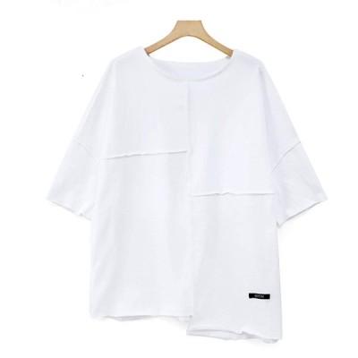 リバーシブル 半袖シャツ レディース (ホワイト)
