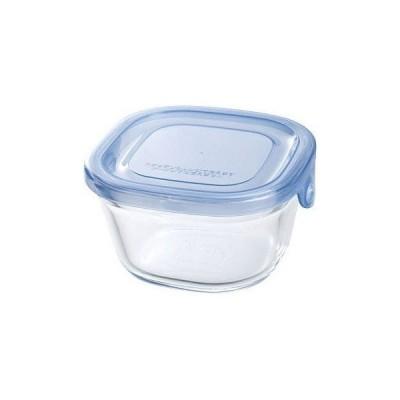 保存容器 イワキ Iwaki NEWパック&レンジ 200ml アクアブルー KBT3200BLN AGCテクノガラス (D)