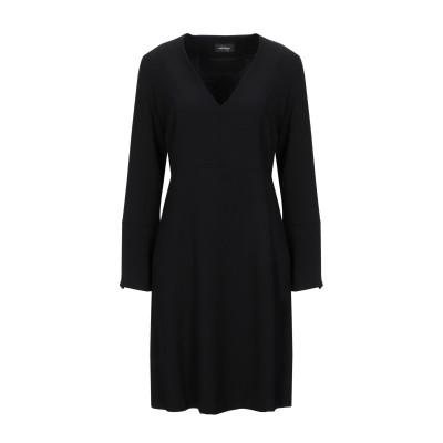 OTTOD'AME ミニワンピース&ドレス ブラック L ポリエステル 100% ミニワンピース&ドレス