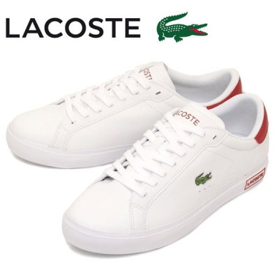 LACOSTE (ラコステ) SM00600 POWER COURT 0520 1 メンズスニーカー 286 WHTxRED LC229