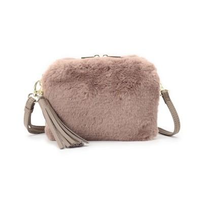 SHOO・LA・RUE / エコファー使いボックスショルダーバッグ WOMEN バッグ > ショルダーバッグ