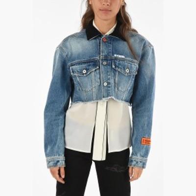 HERON PRESTON/ヘロン プレストン Blue レディース waist length denim jacket dk