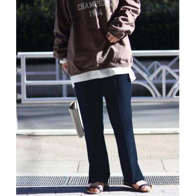 レディース ジャーナルスタンダード Wクロス サイドベントパンツ◆ ネイビー 38