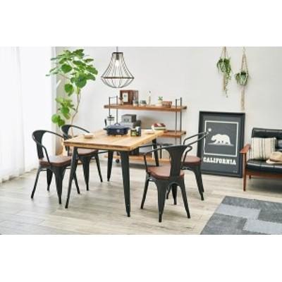 ダイニング5点セット テーブル:W120×D80×H76cm、チェア:W51.5×D53×H78.5×SH46.5cm LT-4692-120NA-5B 萩原 [家具 インテリア]