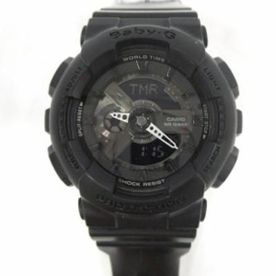 【中古】ベビージー Baby-G BA-110BC-1AJF ショックレジスト 腕時計 デジタル 2針 黒 ブラック /AK23 レディース