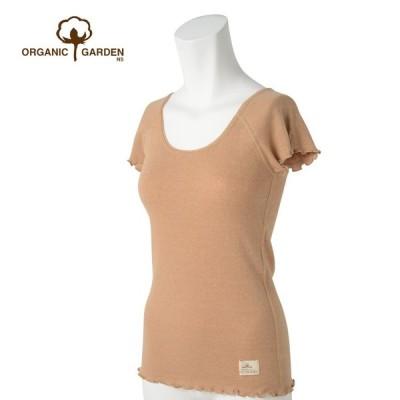 オーガニックガーデン 二の腕すっきり「フレンチスリーブTシャツ」オーガニックコットン100%