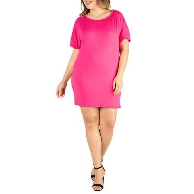 24セブンコンフォート レディース ワンピース トップス Plus Size Loose Fitting T-Shirt Dress