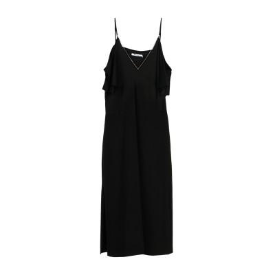 ALEXANDERWANG.T 7分丈ワンピース・ドレス ブラック 2 96% レーヨン 4% ポリウレタン 7分丈ワンピース・ドレス