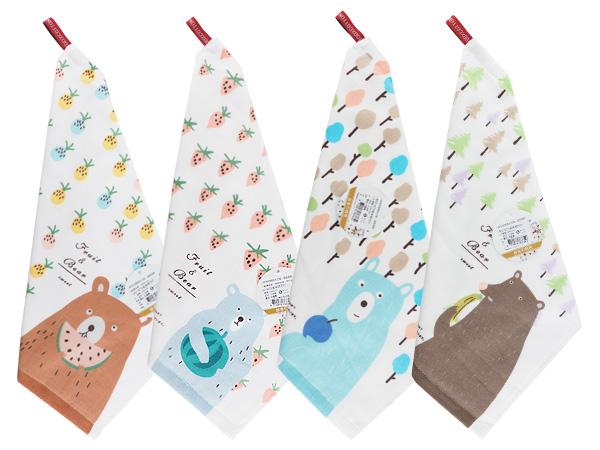 呆呆萌方巾(1入) 款式可選【D763318】擦手巾/擦掛巾