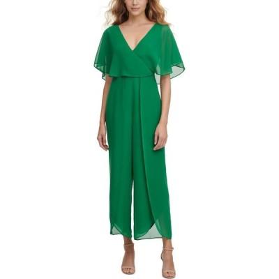 ケンジー kensie レディース オールインワン ジャンプスーツ ワンピース・ドレス Chiffon Jumpsuit Trop Green