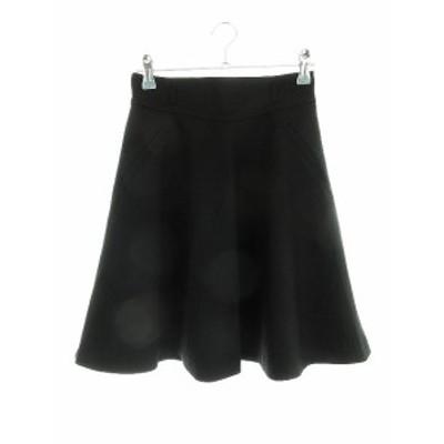 【中古】アプワイザーリッシェ Apuweiser-riche スカート フレア ミニ 無地 0 黒 ブラック /CK レディース