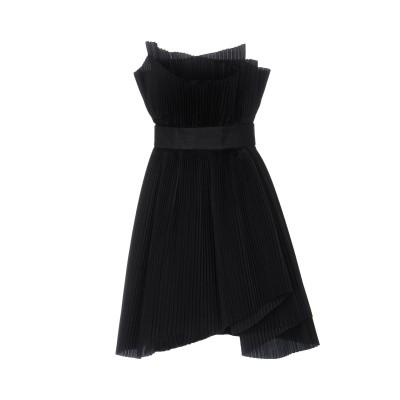カプッチ CAPUCCI ミニワンピース&ドレス ブラック 38 ポリエステル 62% / シルク 38% ミニワンピース&ドレス