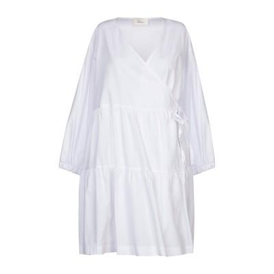 VICOLO ミニワンピース&ドレス ホワイト S コットン 100% ミニワンピース&ドレス
