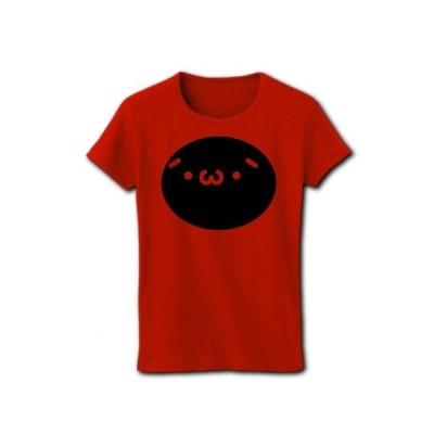 【かわいい】しょぼーんちゃん【絵文字】 リブクルーネックTシャツ(赤)