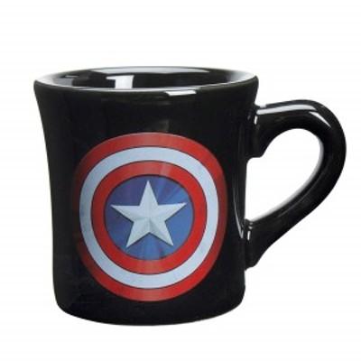 【送料無料】マーベル MARVEL キャプテンアメリカ マグカップ 260ml ブラック SAN2607 サンアート プレゼント