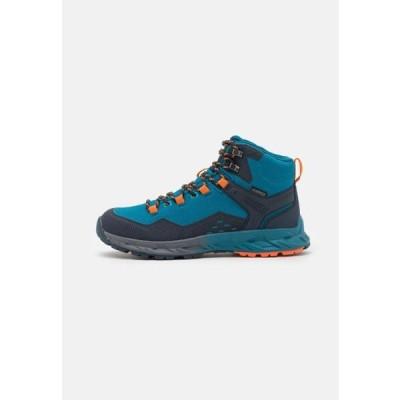ハイテック メンズ スポーツ用品 VERVE MID WP - Hiking shoes - navy/sapphire/orange