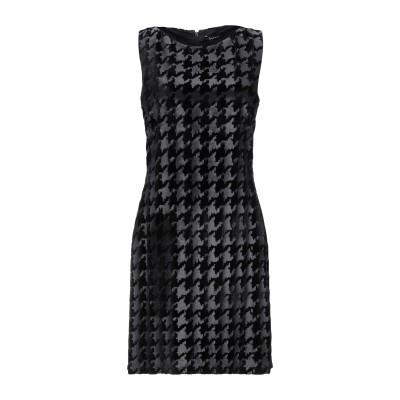 ビブロス BYBLOS ミニワンピース&ドレス ブラック 42 レーヨン 82% / シルク 18% ミニワンピース&ドレス