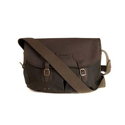 Barbour  Unisex Wax Leather TarrasMessenger Bag  -  green - One size 並行輸入品