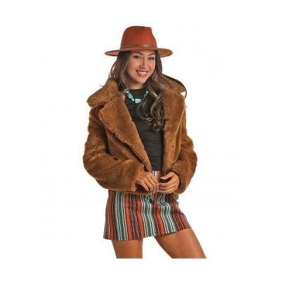 Rock and Roll Cowgirl ロックンロールカウガール レディース 女性用 ファッション アウター ジャケット コート Faux Fur Jacket 52-6734 - Golden Brown