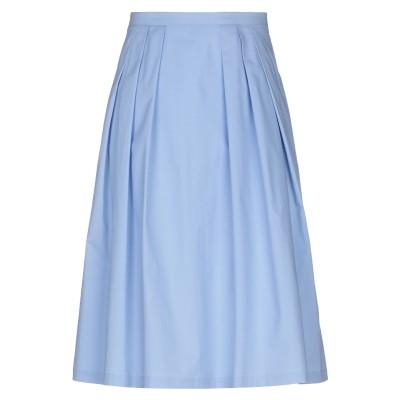 GIORGIO GRATI ひざ丈スカート スカイブルー 40 コットン 96% / ポリウレタン 4% ひざ丈スカート