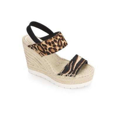 ケネスコール サンダル シューズ レディース Olivia Simple Wedges Sandal Graphic Zebra