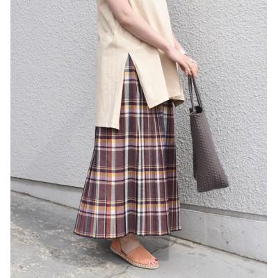 【シップス/SHIPS】 SHIPS any:チェックプリーツスカート