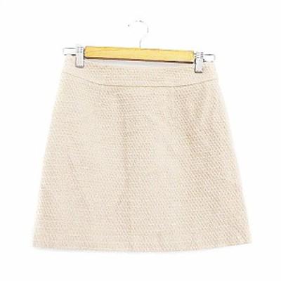 【中古】プロポーション ボディドレッシング PROPORTION BODY DRESSING スカート 台形 ミニ 2 ベージュ /AAM25