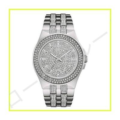 Bulova メンズ 96B235 スワロフスキークリスタルステンレススチール腕時計 並行輸入品