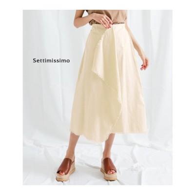 ツイルフリンジラップデザインスカートアナップ セッティミッシモ Settim