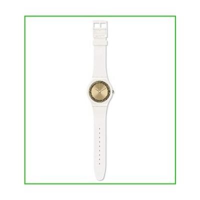Swatch Women's Quartz Watch with Silicone Strap, White, 22 (Model: SUOW168)