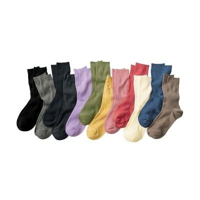 ファミリーソックス・同色3足組(家族ではける定番靴下 21cm〜27cm)(クルー丈) 21〜23 23〜25 25〜27|1752-215695