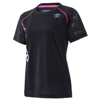 (アンブロ)ウィメンズ COLOUR×UMBRO ICE BLAST S/Sシャツ(18SS) トレーニングウエア 半袖Tシャツ UMWLJA61-NVY