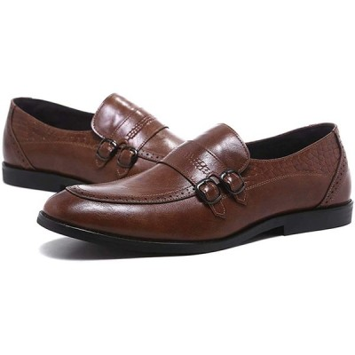 [ZanYeing] 2Type メンズローファー 24cm-29cm 革靴 撥水 軽量 ペニーローファー モンクストラップ ビジネスシューズ 通勤
