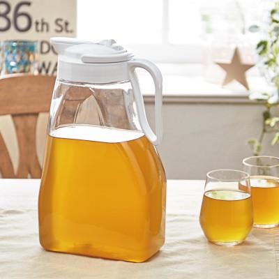 タテ・ヨコ置ける3L冷水筒・麦茶ポット<ホワイトのみ>
