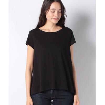 (SISLEY/シスレー レディス)綿パネルフレアーライン半袖Tシャツ/レディース ブラック