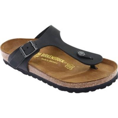 ビルケンシュトック レディース スニーカー シューズ Gizeh Thong Sandal Black Oiled Leather
