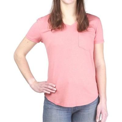 ムースジョー Moosejaw レディース Tシャツ Vネック トップス Floral Critter Flowy V-Neck SS Tee Flamingo