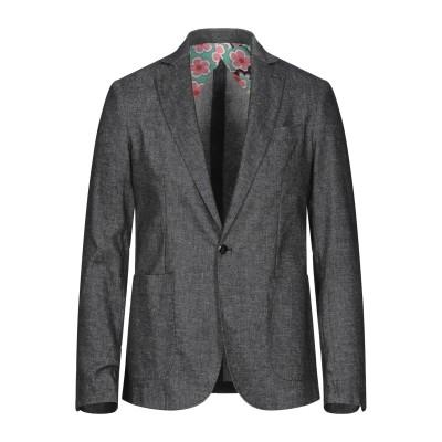 NEILL KATTER テーラードジャケット ブラック 48 リネン 45% / コットン 42% / ポリエステル 10% / ポリウレタン 3