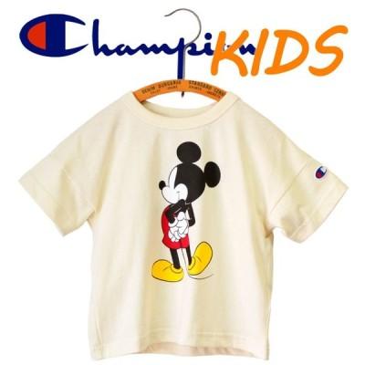 Champion チャンピオン ミッキー コラボ kids キッズ 子供服 半袖 Tシャツ