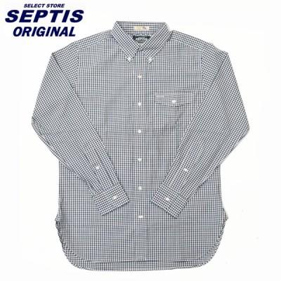 SEPTIS ORIGINAL(セプティズオリジナル) L/S B/D IVY SHIRTS(オリジナルアイビーシャツ 長袖ボタンダウンシャツ) GINGHAM CHECK NAVY/ROBERT KAUFMAN OXFORD