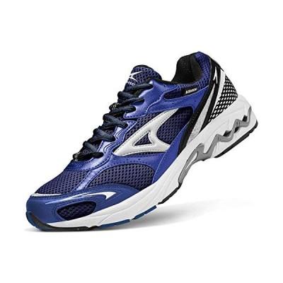 ランニングシューズ メンズ 26cm 青 通気 スポーツシューズ スニーカー ジム 運動 靴 ウォーキングシューズ アウトドアトレーニングシ
